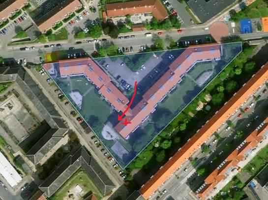 Kort til Sigynsgade 36-66's festsal